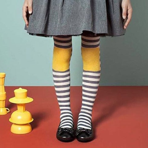Stripe Kids Knitted Cotton Tights 1-9T