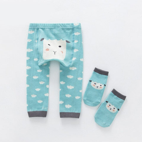 2Pcs/Set Cute Animal Infant Autumn Winter Warm Tight Sheep