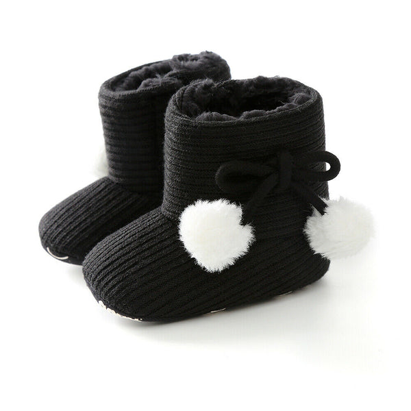 Toddler Pom Pom First Walkers Boots 0-18M
