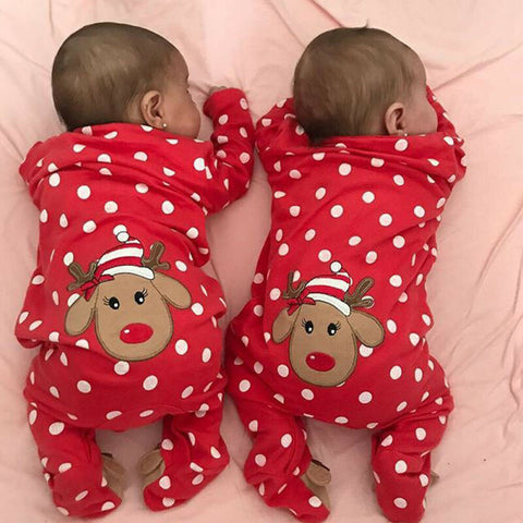 My First Christmas Baby Jumpsuits 0-18M