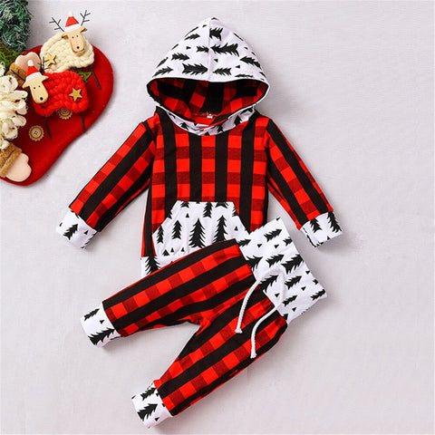 Red Plaid Christmas Tree Set 0-18M