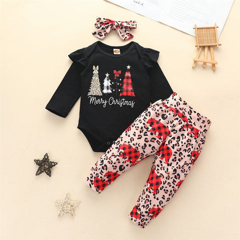 Leopard Infant Christmas Set 0-18M