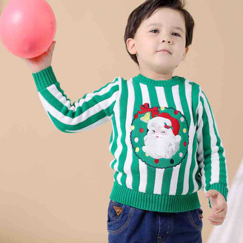 Luxury Design Santa Claus Knitted Toddler Sweaters 1-5T (2 Colors)