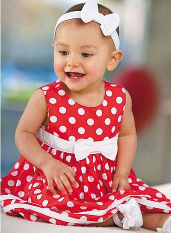 Baby Red & White Dress
