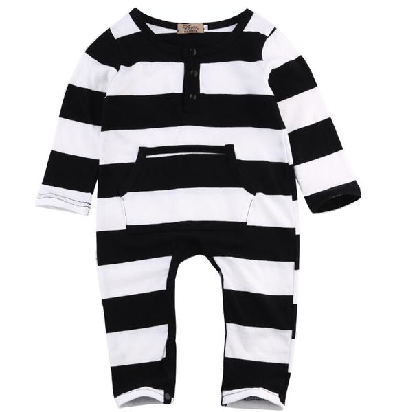 Baby Black & White Romper-www.my-baby-world.com