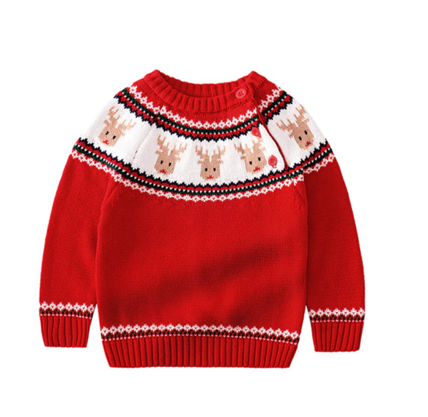 Elk & Polar bear Knitted Toddler Sweaters 1-5T(2 Colors)