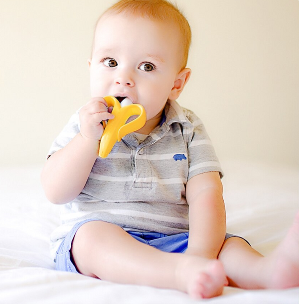 [US Only] Silicon Bebe Banana Teether Toy-www.my-baby-world.com