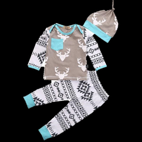 Baby Blue Deer Set