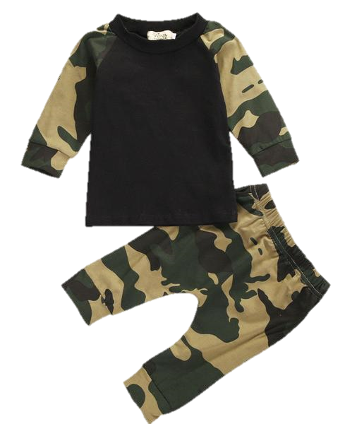 Baby Camouflage 2pcs Set-www.my-baby-world.com