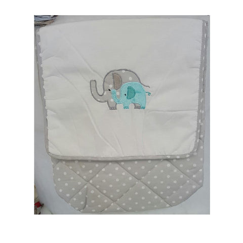 Green Elephant Crib Bedding Collection Set
