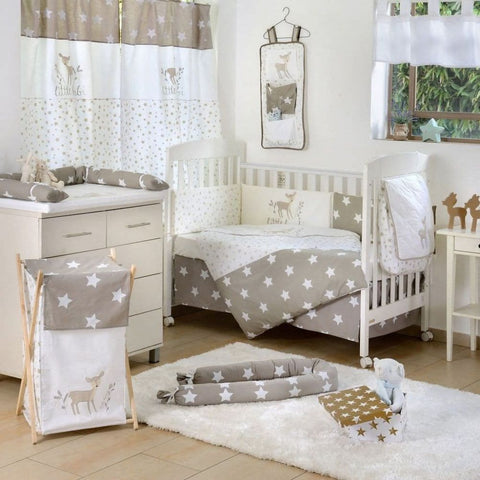 Dearest Bambi Stars Baby Crib Bedding Set