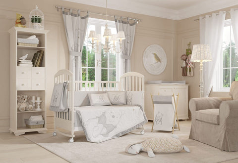 Disney Gray Winnie the Pooh Crib Bedding Collection