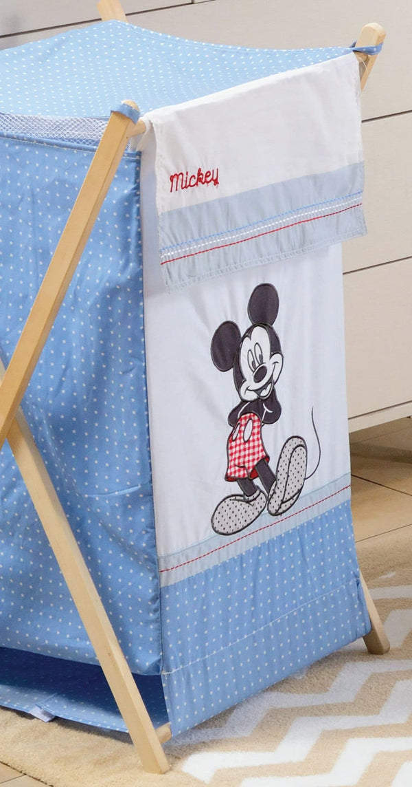 Disney Baby Blue Mickey Mouse Dance Crib Bedding Set