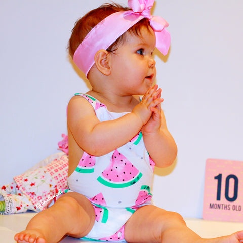 Baby Watermelon Bodysuit 2pcs Set