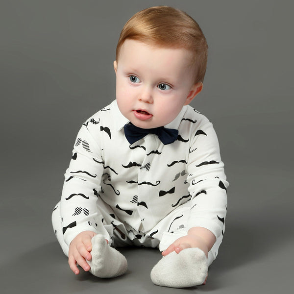 Baby Mustache Jumpsuit-www.my-baby-world.com