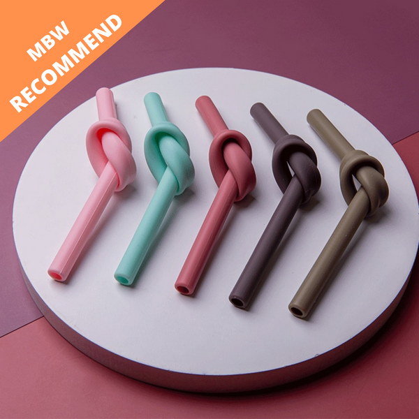 5Pcs Reusable Silicone Straw