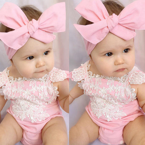 Baby Pink Lace Bodysuit 2pcs Set