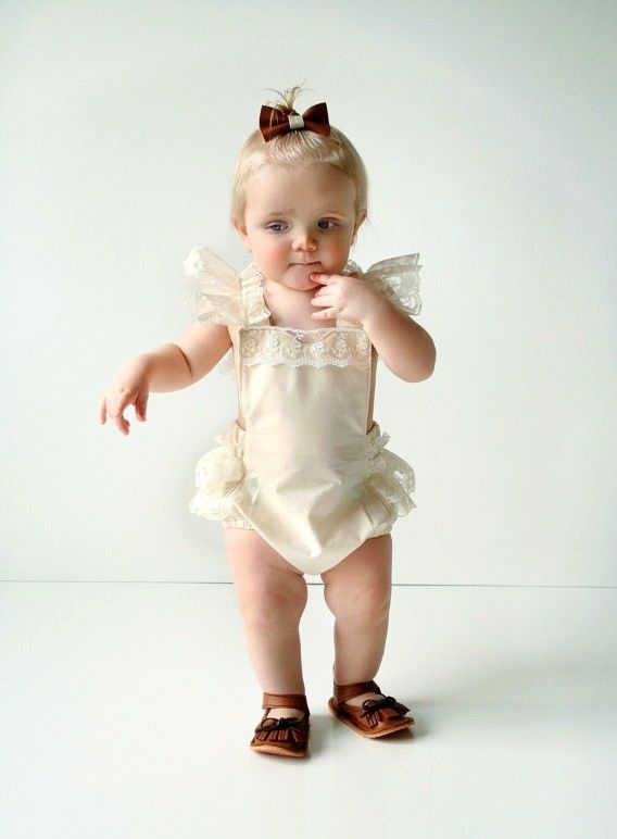Baby Cream Lace Bodysuit-www.my-baby-world.com