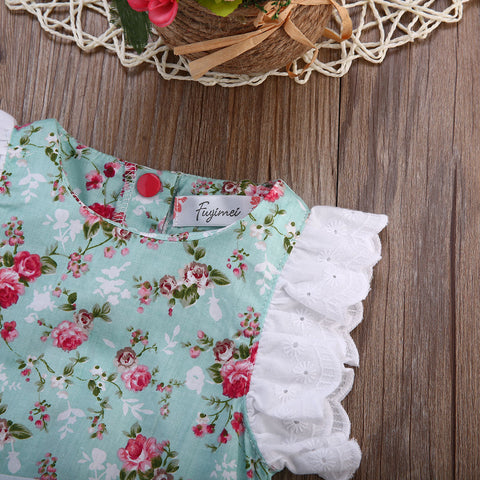 Baby Blue Floral Lace Bodysuit-www.my-baby-world.com