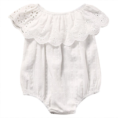 Baby White Ruffle Bodysuit-www.my-baby-world.com