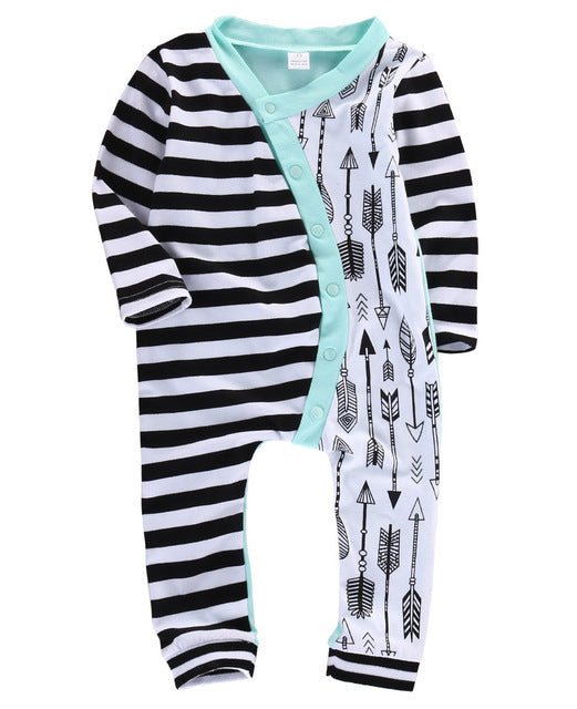 Baby Stripes & Arrows Jumpsuit-www.my-baby-world.com