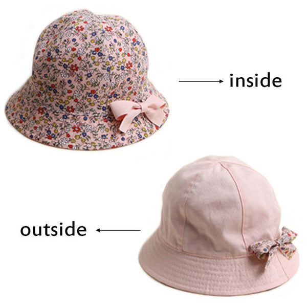 Baby Floral Double-Sided Hat-www.my-baby-world.com