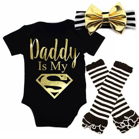 Baby Daddy Superman 3pcs Set
