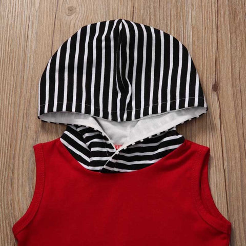 Baby Cool Red Stripes Hoodie 2pcs Set-www.my-baby-world.com