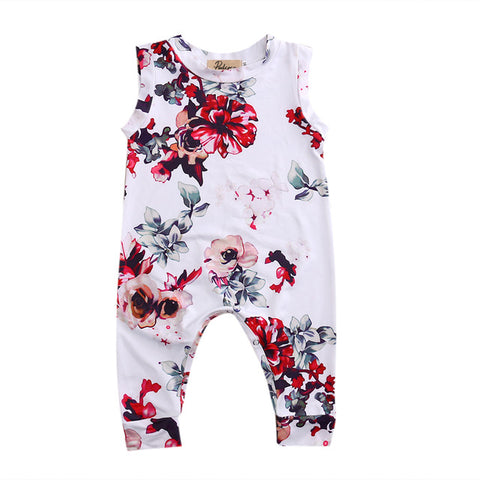 Baby Red Flowers Jumpsuit