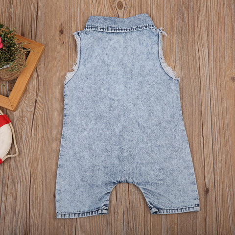 Baby Cool Denim Romper-www.my-baby-world.com