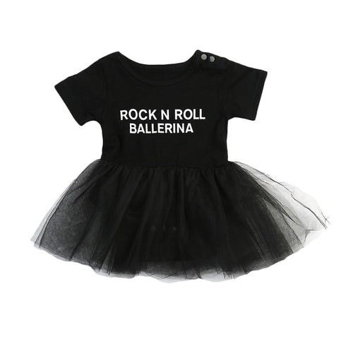 Baby Rock N' Roll Ballerina Onesie-www.my-baby-world.com