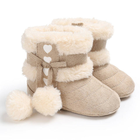 Baby Hearts Pompom Boots