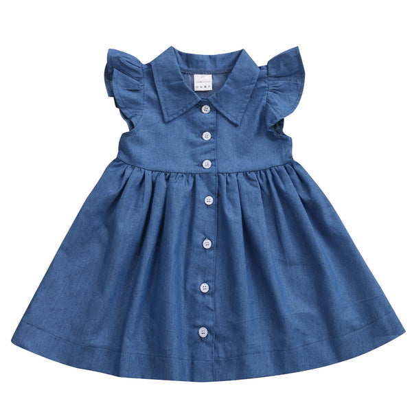 Baby Denim Button Down Dress-www.my-baby-world.com