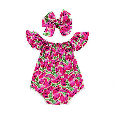 Baby Cute Watermelon Bodysuit 2pcs Set
