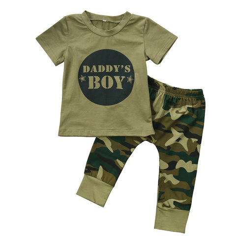 Baby Daddy's Boy/ Girl Camo 2pcs Set-www.my-baby-world.com