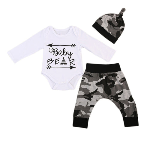 Baby Bear Camo 3pcs Set