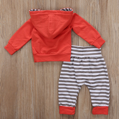Baby Red Stripes Hoodie 2pcs Set-www.my-baby-world.com