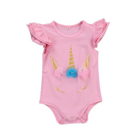 Baby Unicorn Short Onesie-www.my-baby-world.com