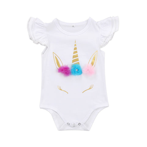 Baby Unicorn Short Onesie