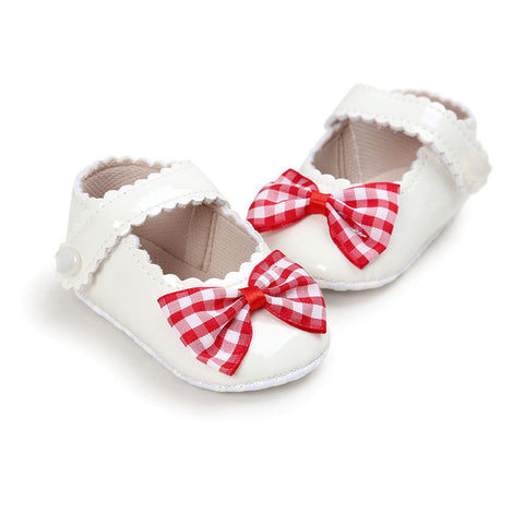 Baby Plaid Bow Shoes