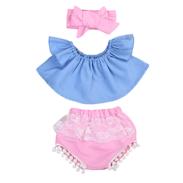 Baby Blue & Pink 3pcs Set-www.my-baby-world.com