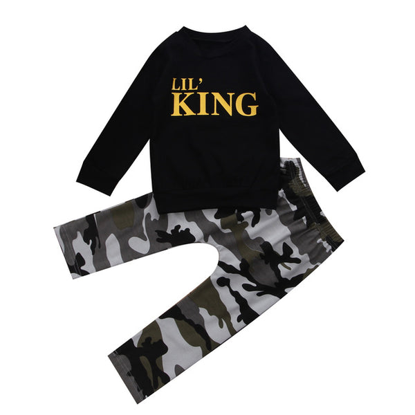 Baby Lil' King Camouflage 2pcs Set-www.my-baby-world.com