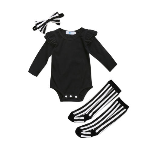 Baby Chic Monochrome 3pcs Set-www.my-baby-world.com