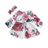 Baby Red Flowers Dress 2pcs Set-www.my-baby-world.com