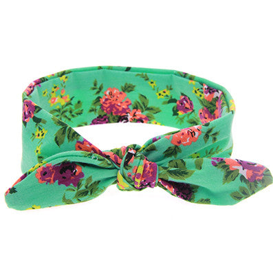 Baby Head Wrap Headband - Floral-www.my-baby-world.com
