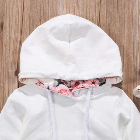 Baby White Floral Hoodie 3pcs Set-www.my-baby-world.com