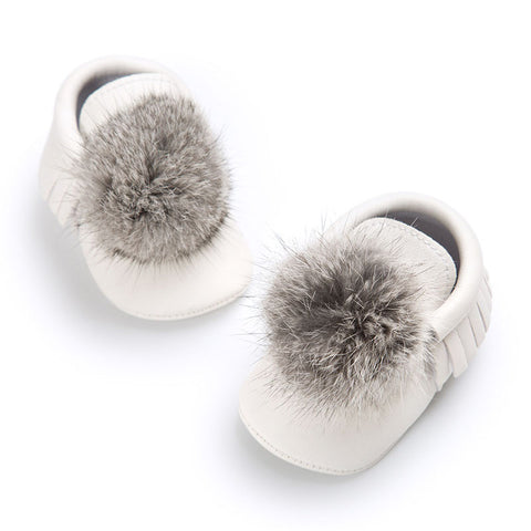 Baby Fur Pom Pom Shoes