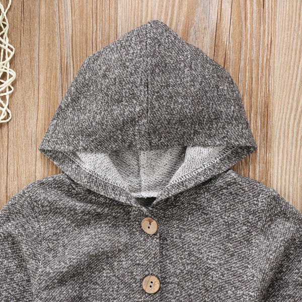 Baby Gray Hoodie Jumpsuit-www.my-baby-world.com