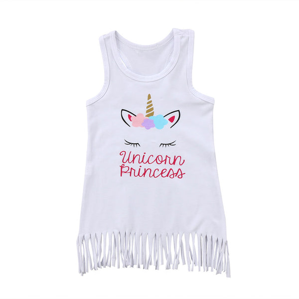 Baby Princess Unicorn Fringe Dress-www.my-baby-world.com