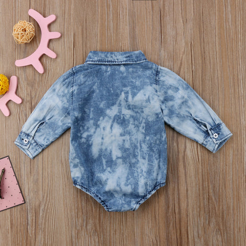 Baby Denim Onesie-www.my-baby-world.com
